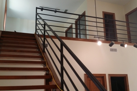 Custom handrail in new residence